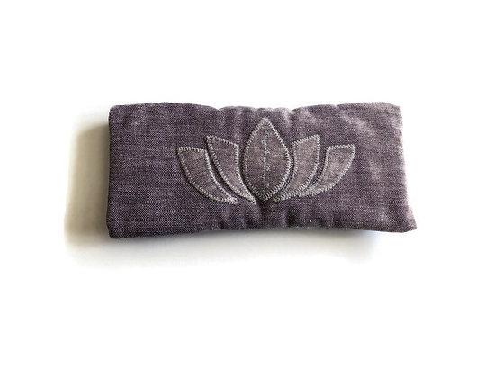 yoga eye pillow with lotus flower