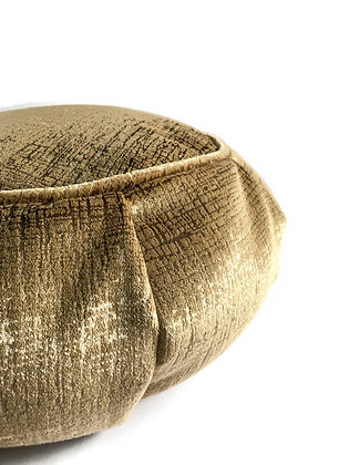 gold meditation cushion