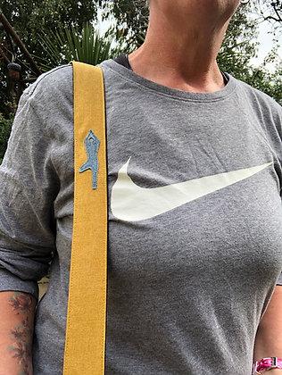 yoga mat strap in mustard yellow