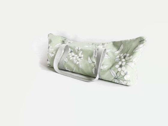 yoga mat bag in green apple blossom