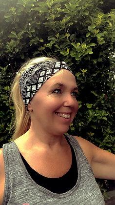 yoga headband black and white