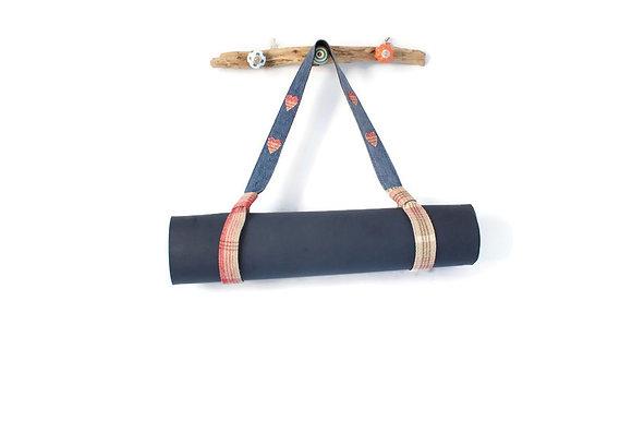 yoga mat carrier with mat