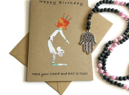 Yoga Birthday Cards