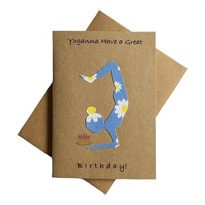 Yoganna have a great birthday card