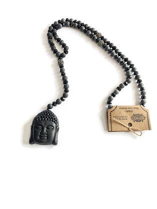 Buddha black necklace