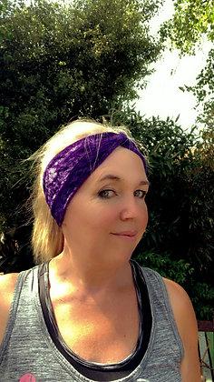 purple velour headband