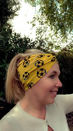 football headband in yellow