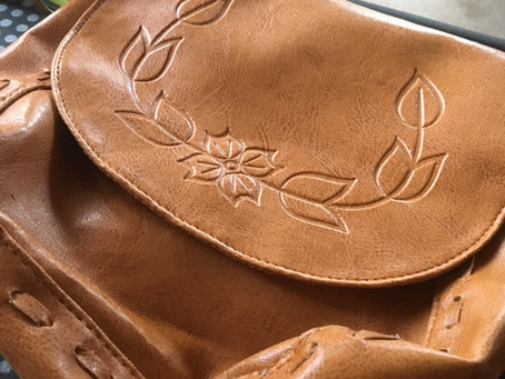 Transforming an old leather bag