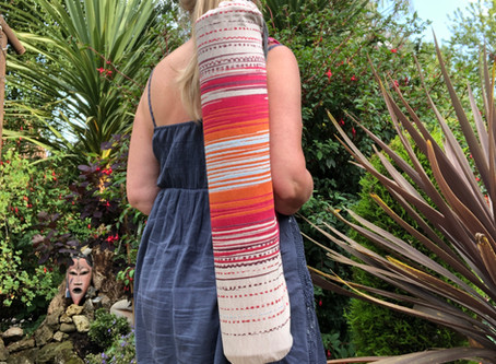 Yoga Mat Bag Upcycled - Great for you, me and the planet