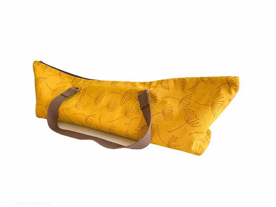 yellow yoga mat bag