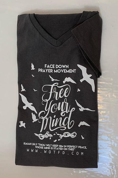 """""""Free Your Mind"""" v-neck t-shirt"""
