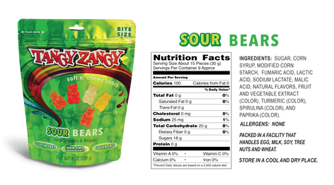 Sour Bears Candy