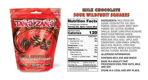 Sour Wildfruit Candy with Chocolate