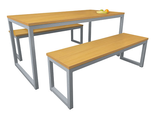 Standard-Dining-Table-&-Benches-Beech-La