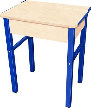 RetroMod Desk Maple with Blue Legs.jpg