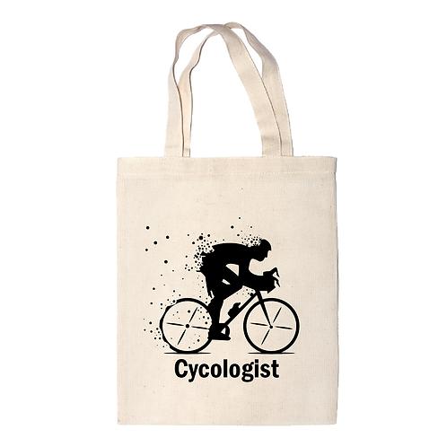 Cycologist | bicikli mintás vászontáska