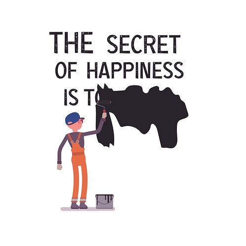 Secret of happiness | grafikás férfi pamutpoló