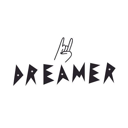 Dreamer | grafikás női fehér pamutpóló