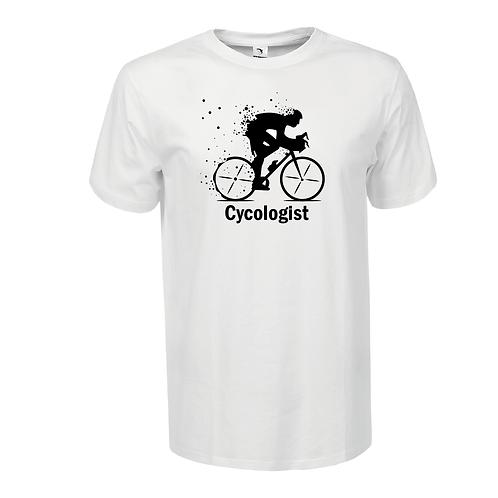 Cycologist | bicikli mintás férfi póló