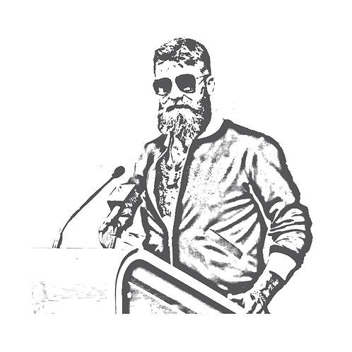 FITZMAGIC | grafikás férfi fehér pamutpóló