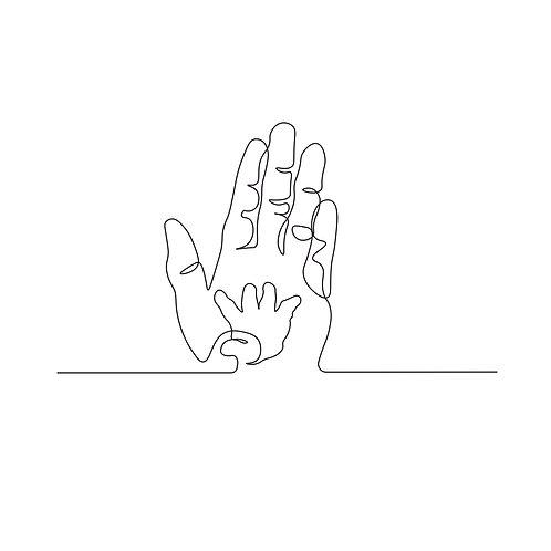 Hand   grafikás női fehér pamutpóló