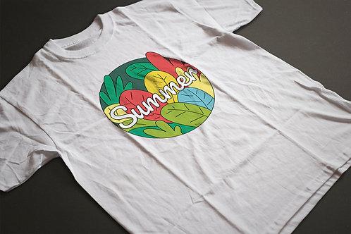 Summer | grafikás férfi fehér pamutpóló