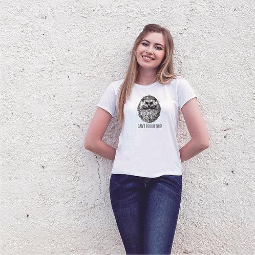 DO NOT TOUCH | grafikás női pamutpoló