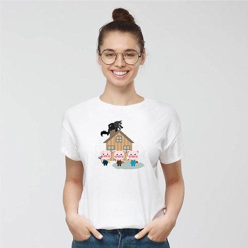 Három kismalac | grafikás női pamutpoló