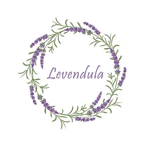 Lavender circle | grafikás női fehér pamutpóló