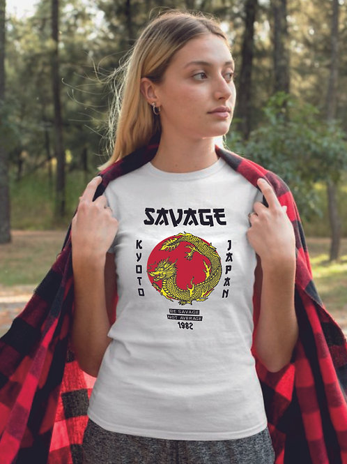 Savage dragon   grafikás női pamutpóló