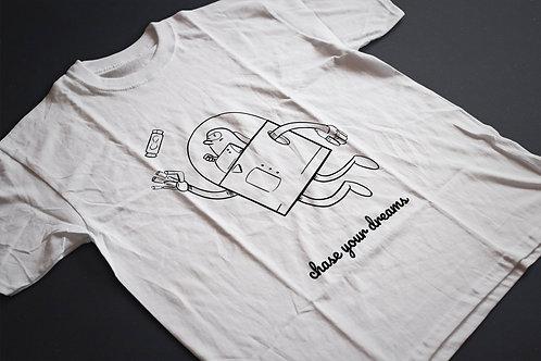 Űrhajós | grafikás férfi fehér pamutpóló