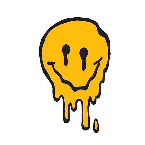 Smiley melt | grafikás férfi fehér pamutpóló
