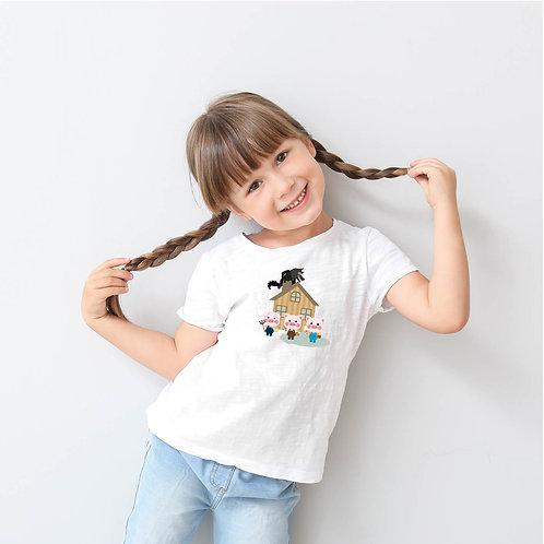 Három kismalac | grafikás gyerek pamutpoló
