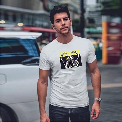 LOVE SKELETON| grafikás férfi pamutpóló