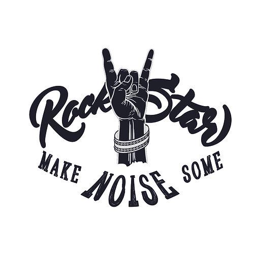 Rockstar | grafikás férfi fehér pamutpóló