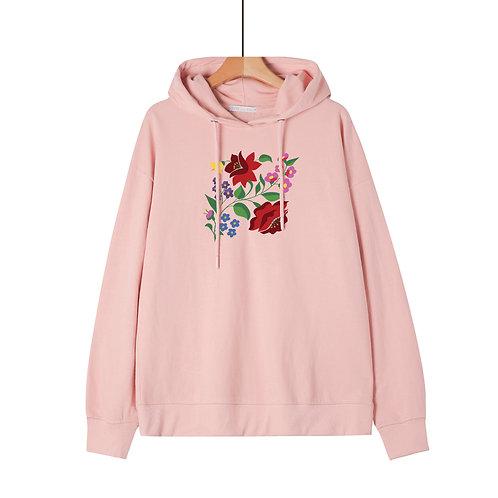 KALOCSAI Piros Rózsa| grafikás női pulóver