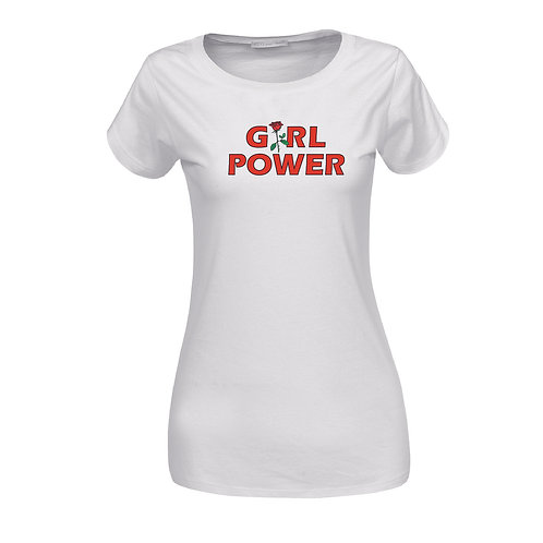 GIRL POWER | grafikás női pamutpóló