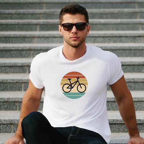 Körben a bicikli   bicikli mintás férfi póló