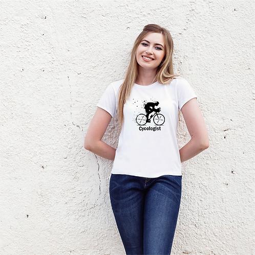 Cycologist   bicikli mintás női póló