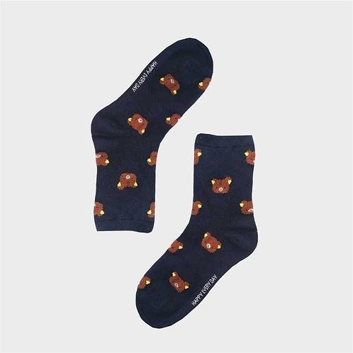 Női kék macis zokni   Női VIDAM ZOKNI