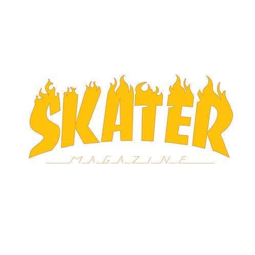 Skater | grafikás női fehér pamutpóló