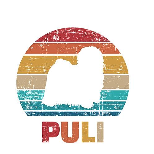 Puli colour | grafikás női fehér pamutpóló