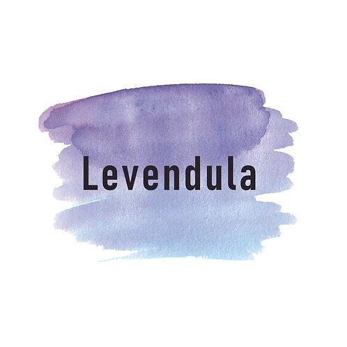 Lavender paint | grafikás női fehér pamutpóló