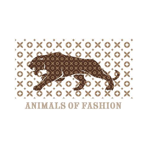 Animals of fashion   grafikás férfi fehér pamutpóló