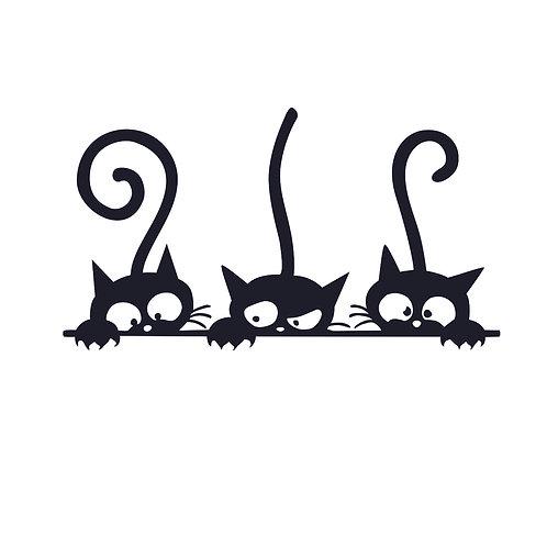 Cats | grafikás női fehér pamutpóló