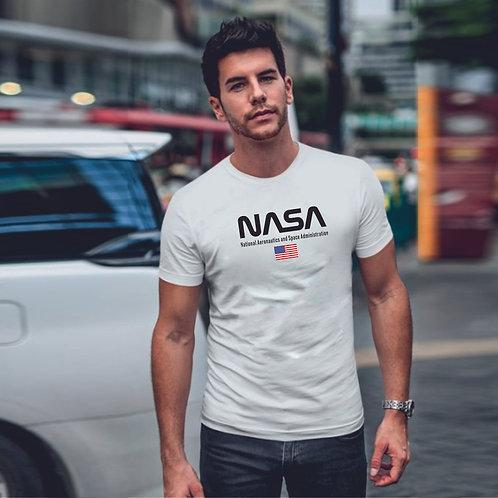 NASA & USA | grafikás férfi pamutpóló
