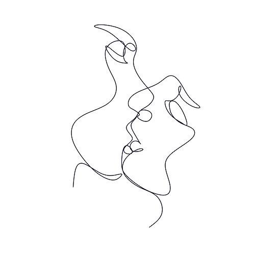 Kiss | grafikás női fehér pamutpóló