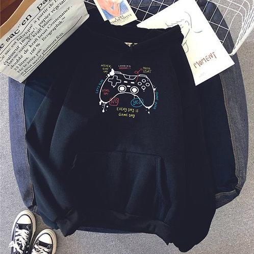 KONZOL   grafikás férfi pulóver