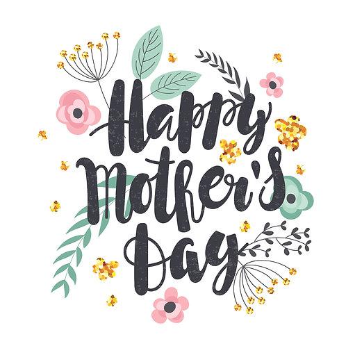 Mother's day | grafikás női fehér pamutpóló