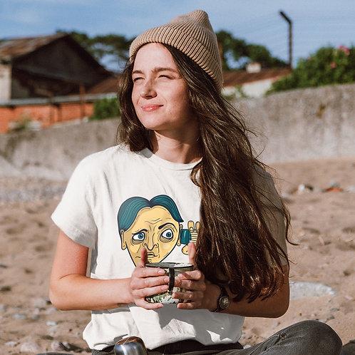 I hear you | grafikás női fehér pamutpóló